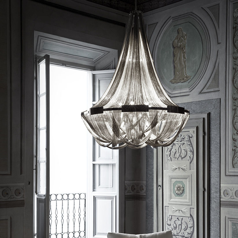 Classic chandelier metal incandescent soscik by nicolas classic chandelier metal incandescent soscik by nicolas terzani arubaitofo Image collections