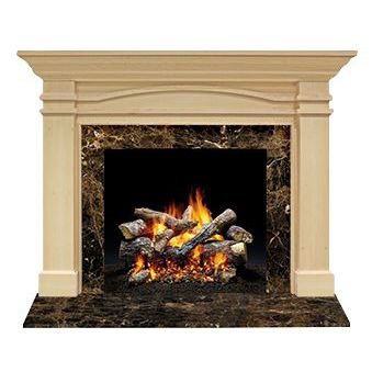 Traditional Fireplace Mantel Wooden Portico