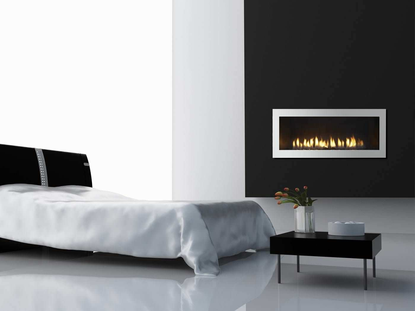 gas fireplace contemporary closed hearth built in cosmo