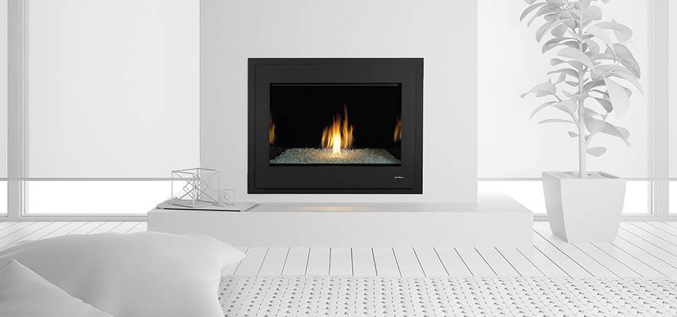 Gas fireplace / contemporary / closed hearth / built-in - MODERN ...