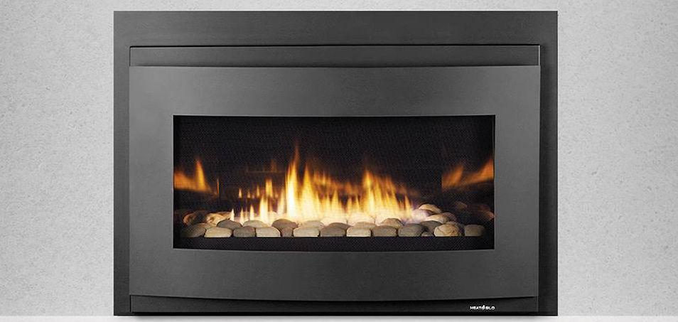Gas Fireplace Insert Remote Controlled Cosmo