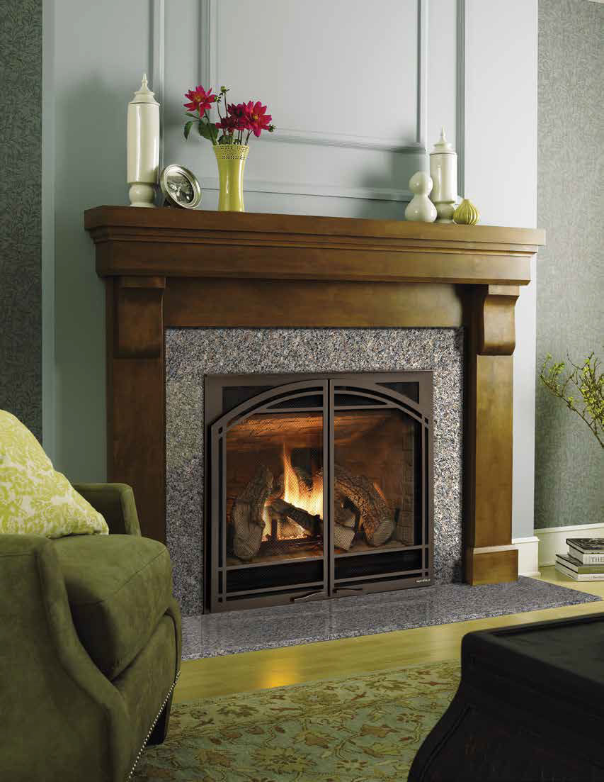 traditional fireplace mantel oak sonoma heat u0026 glo