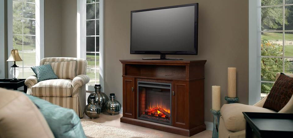 Electric fireplace contemporary closed hearth corner