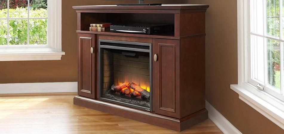 Electric fireplace / contemporary / closed hearth / corner SIMPLIFIRE  ASHLEY MEDIA CABINET HEAT & ... - Electric Fireplace / Contemporary / Closed Hearth / Corner