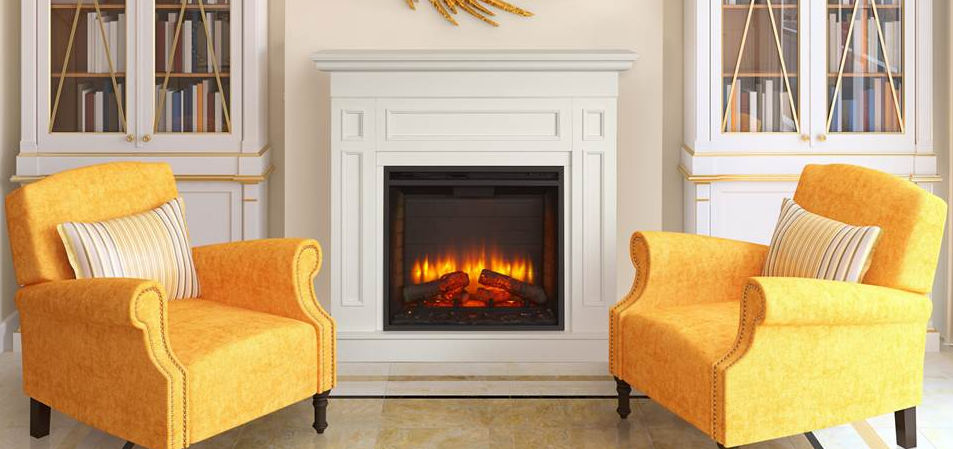 Electric fireplace / traditional / closed hearth / built-in - SIMPLIFIRE  MONARCH CABINET - Electric Fireplace / Traditional / Closed Hearth / Built-in