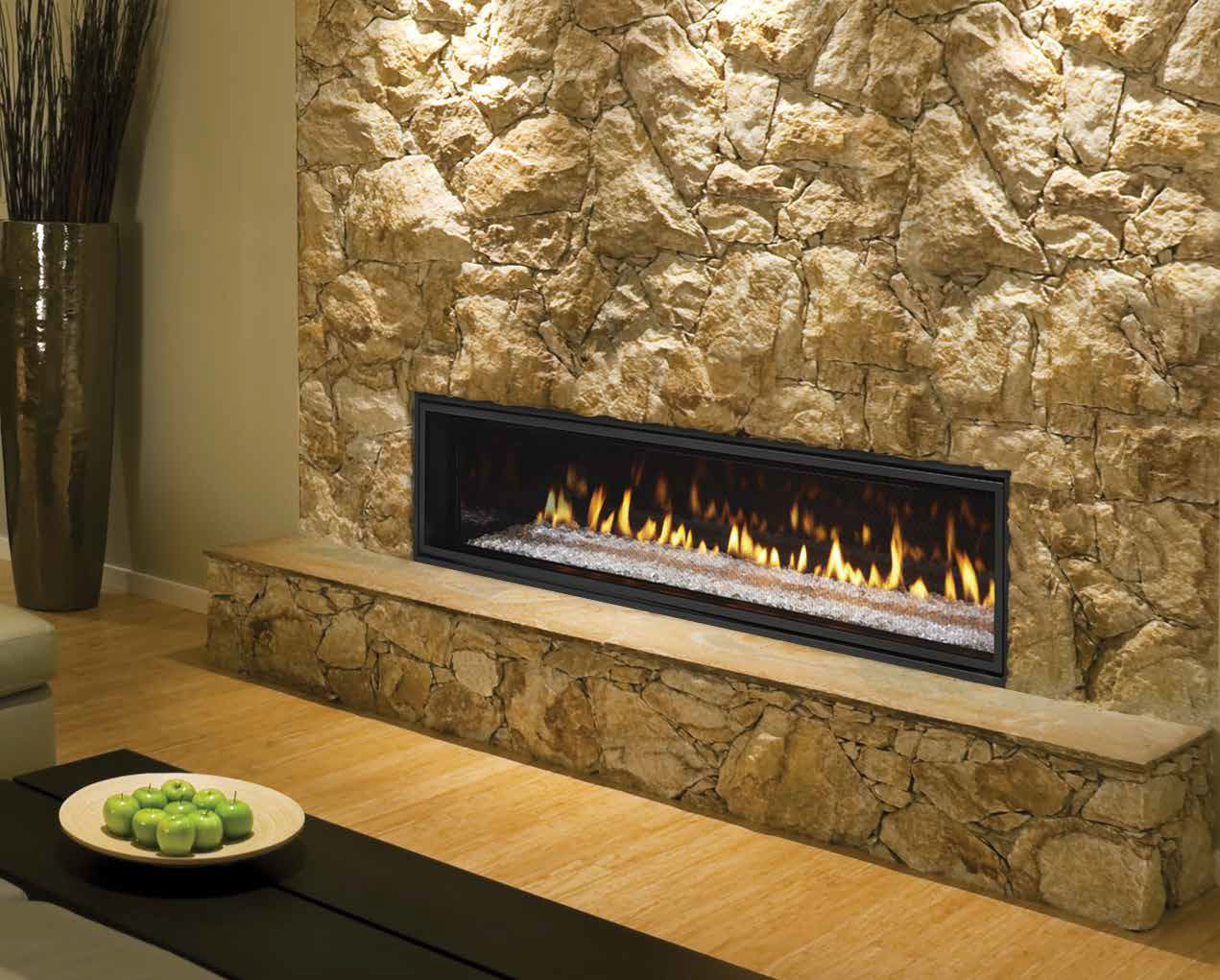 gas fireplace contemporary closed hearth built in crave