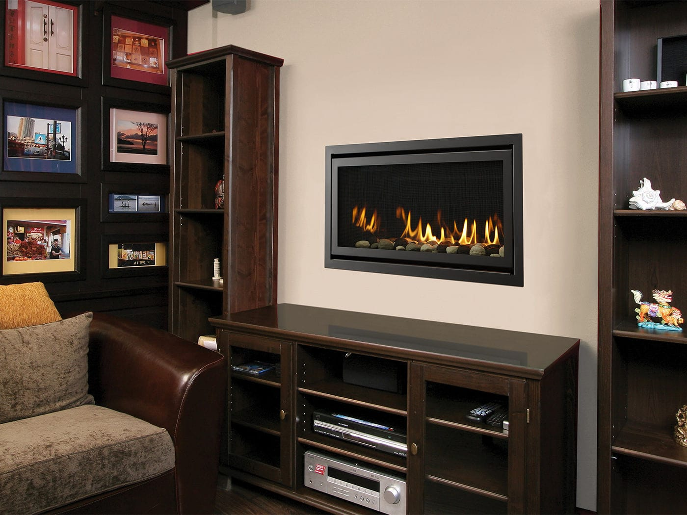 gas fireplace contemporary closed hearth built in rave