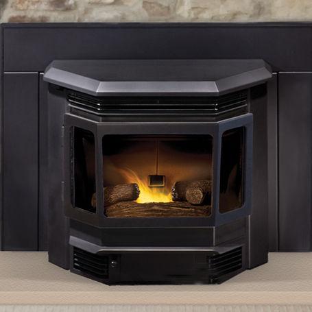 Pellet Fireplace Insert 3 Sided Classic Bay 1200 Quadra Fire