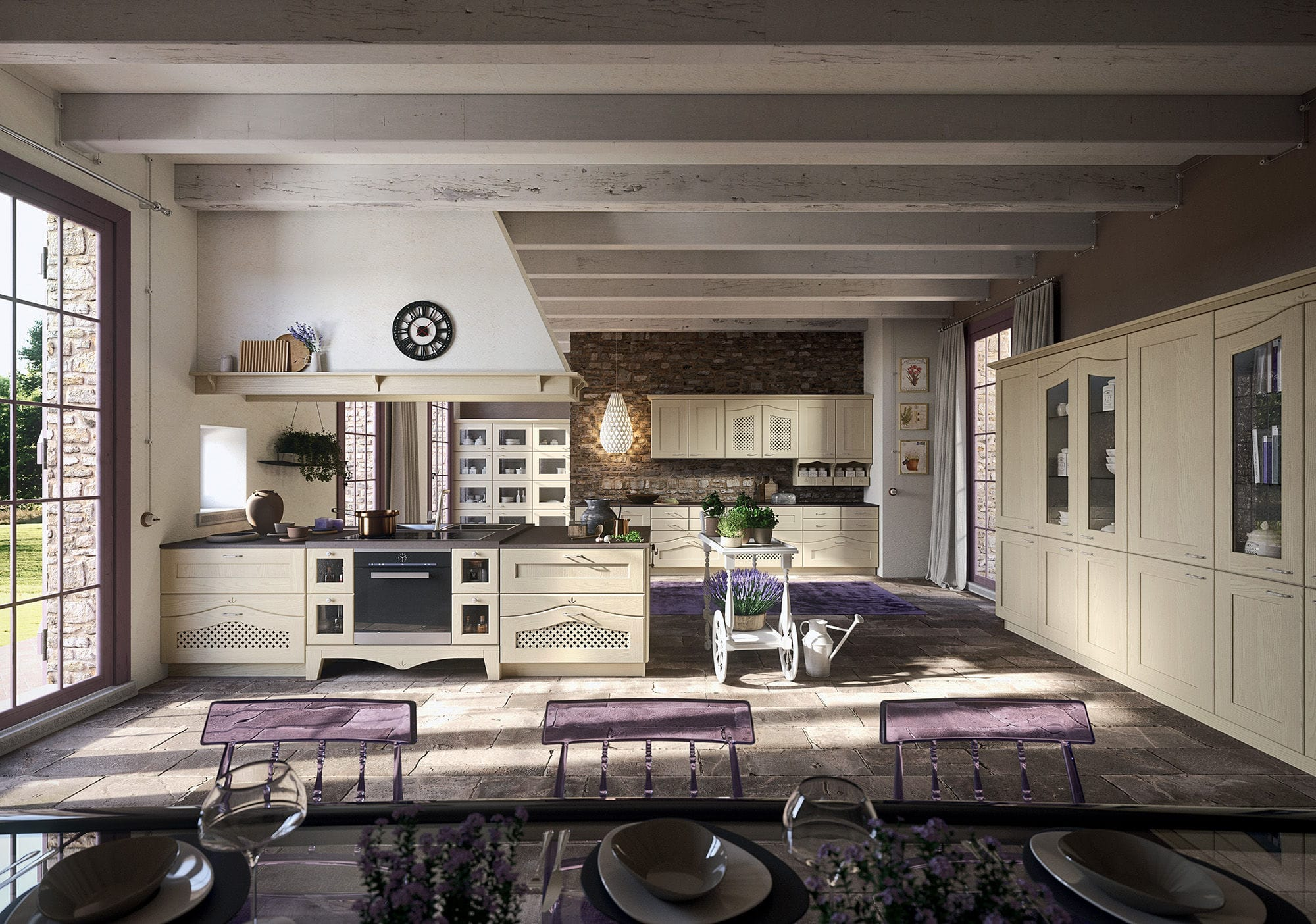 Traditional Kitchen Wooden With Handles Ducale Arrital - Ducale-kitchen-design-by-arrital-cucine