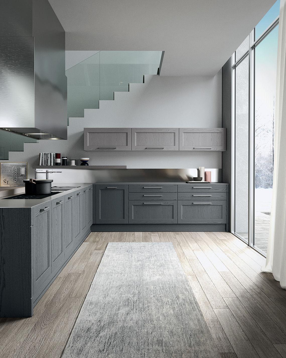 Traditional kitchen / wood veneer / island - VILLAGE 1 - Arrital
