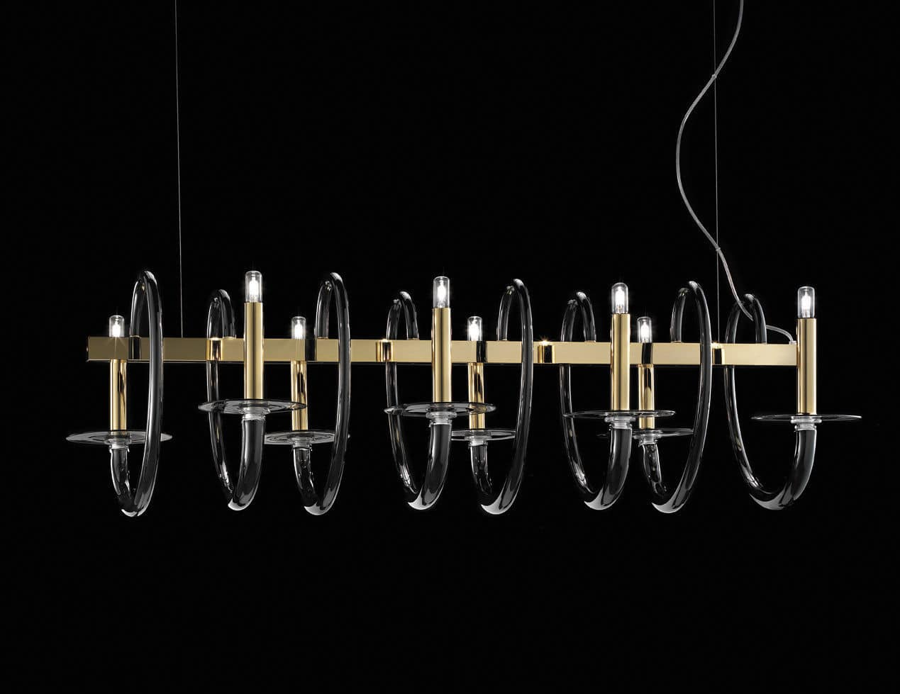 Traditional chandelier glass halogen handmade vivace by f