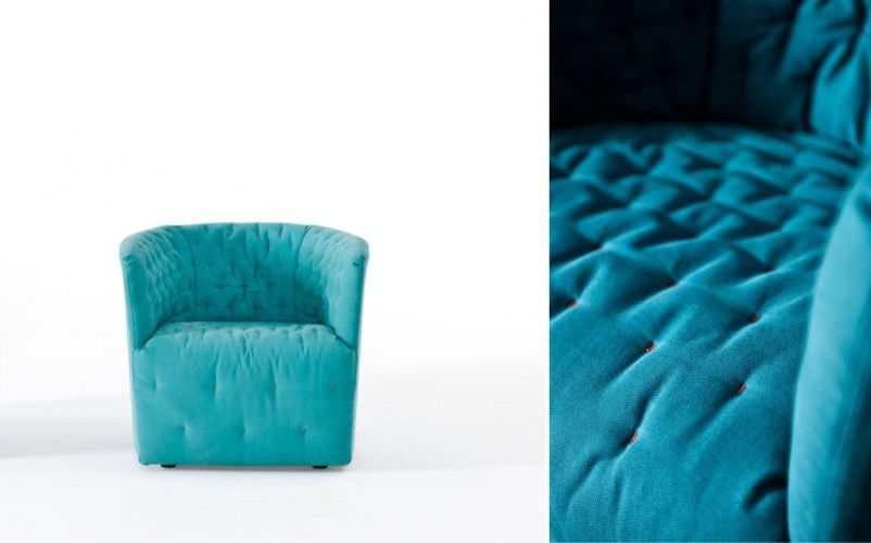 Delightful ... Contemporary Armchair / Fabric / With Washable Removable Cover AMÉLIE  By Sergio Bicego Saba ...