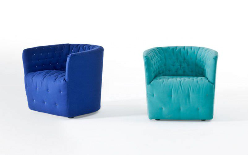 ... Contemporary Armchair / Fabric / With Washable Removable Cover AMÉLIE  By Sergio Bicego Saba