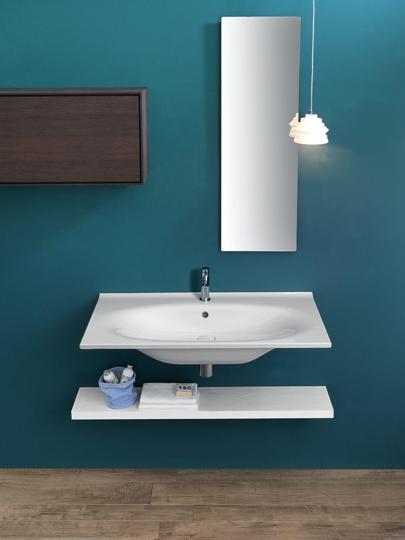 Wall-mounted washbasin / rectangular / ceramic / contemporary - Y1BQ ...