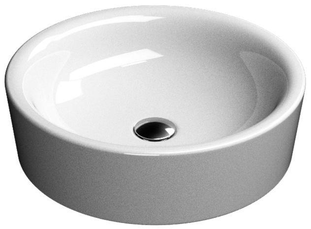 Backsplash between gap tile countertop and