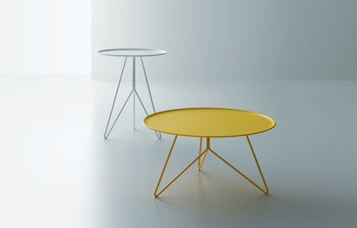 contemporary coffee table / metal / round - linkgiopato