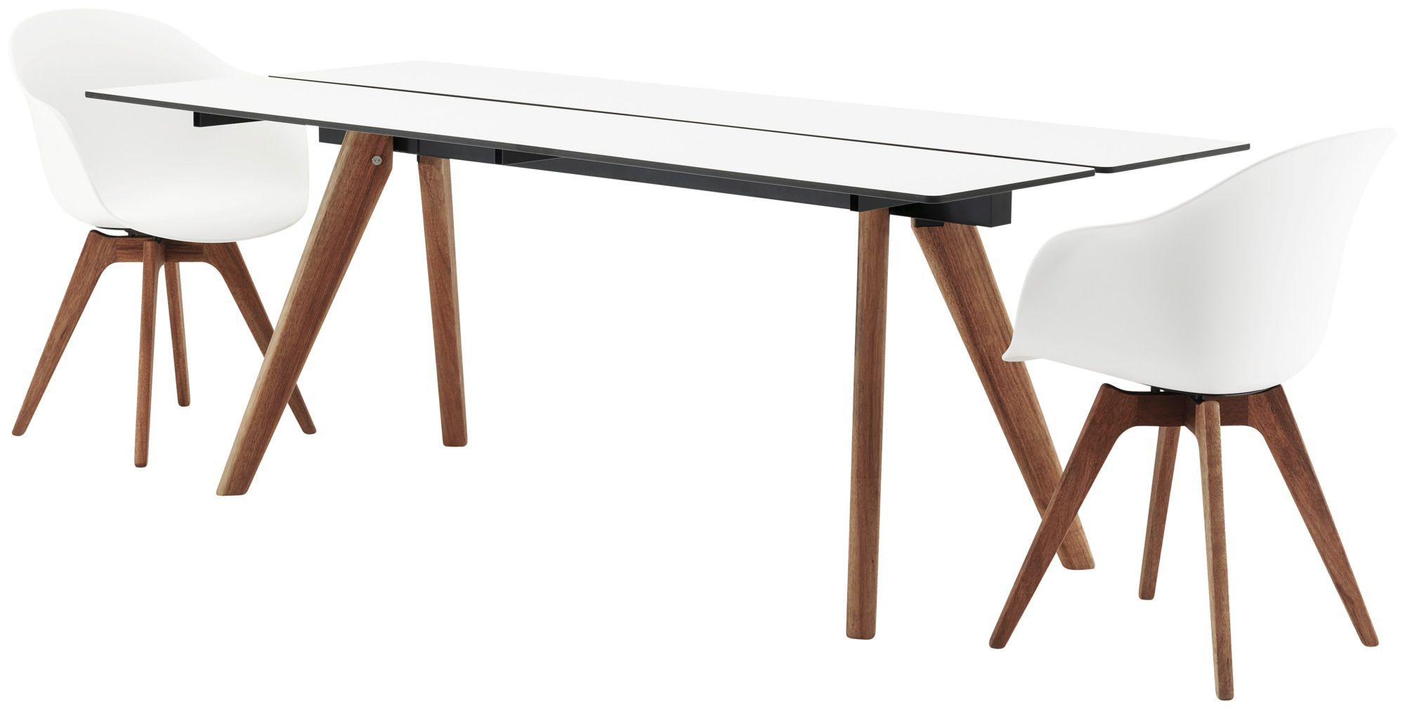 Contemporary dining table wooden laminate rectangular