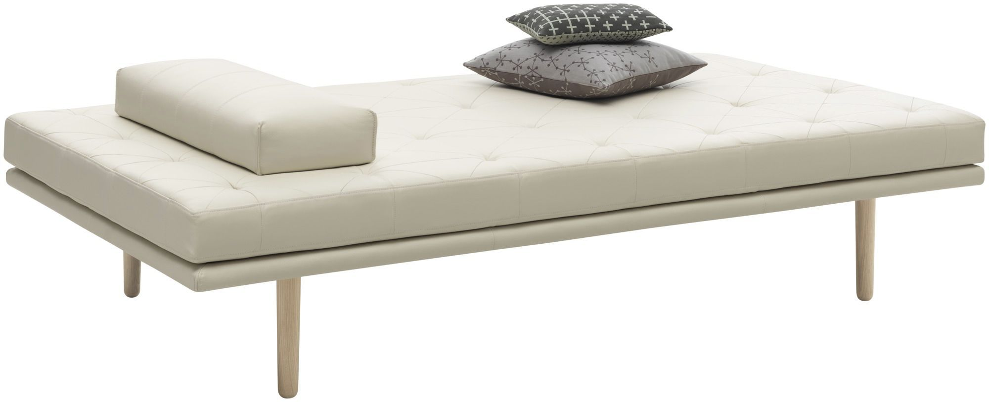 Boconcept De contemporary day bed leather fabric fusion boconcept