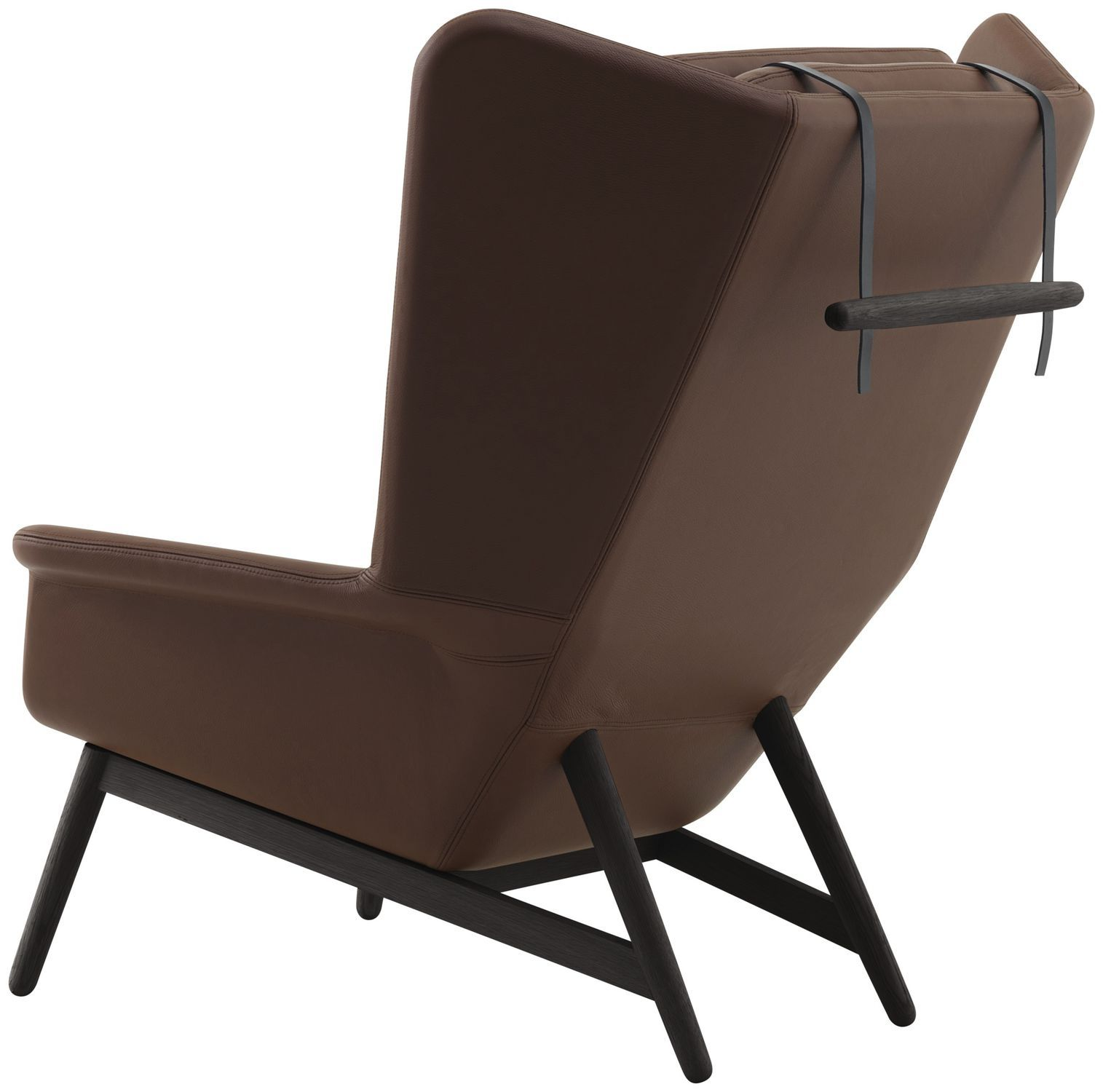 ... Contemporary Armchair / Wooden / Fabric / Leather HAMILTON BoConcept ...