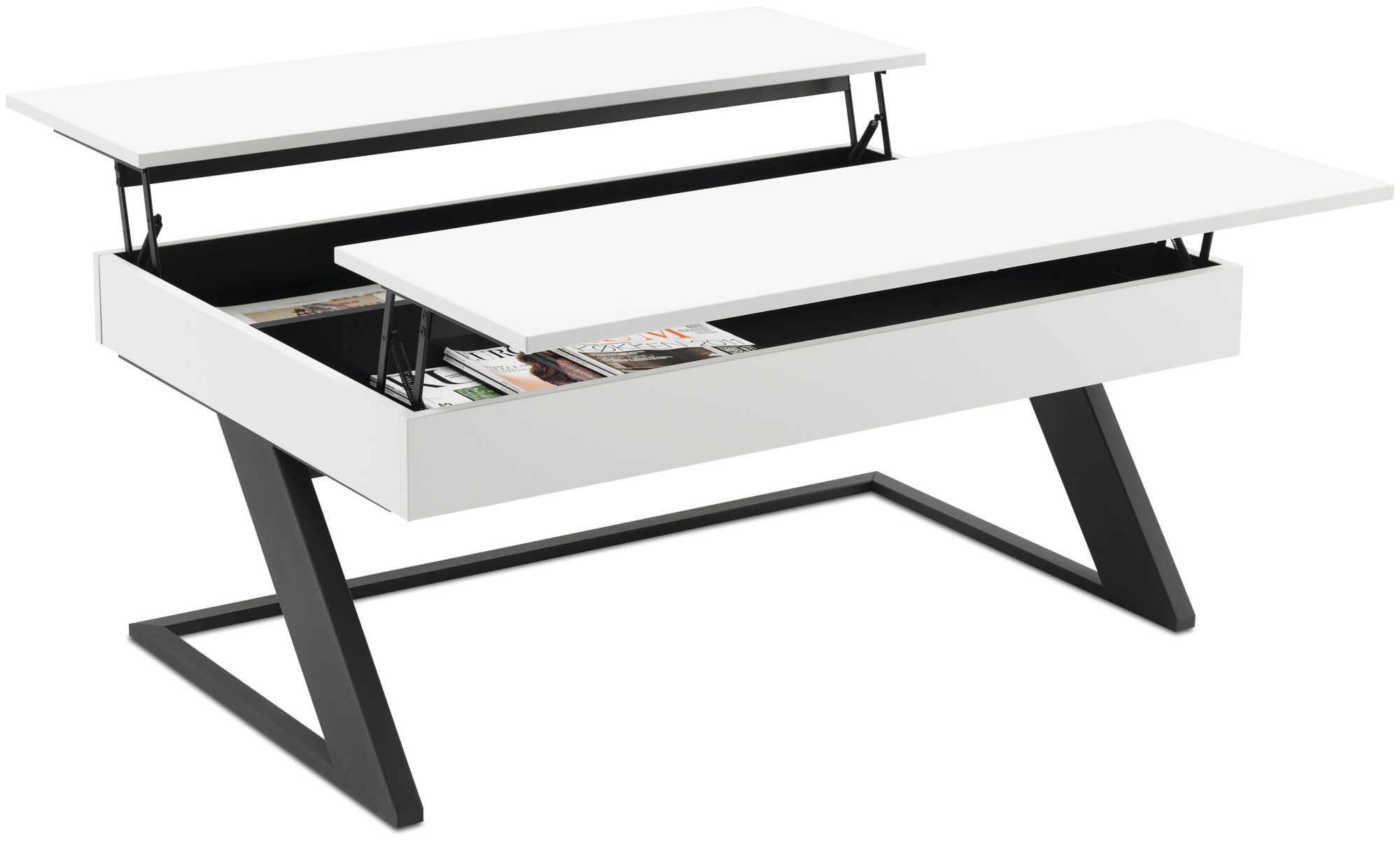 Contemporary coffee table MDF steel rectangular GRANVILLE