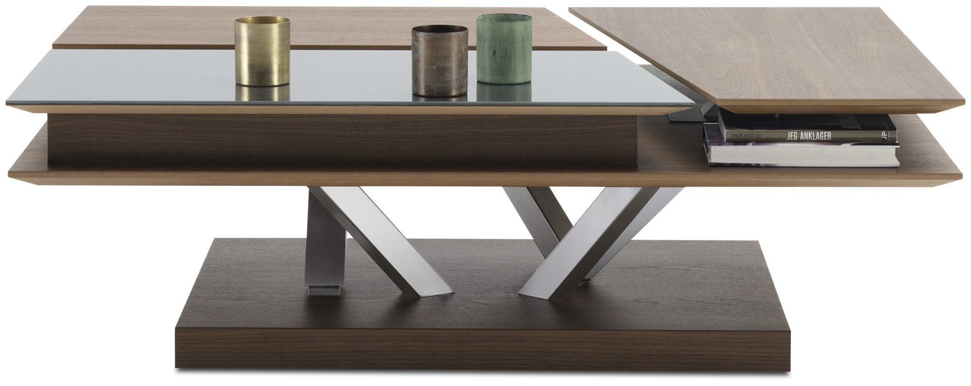 ... Contemporary coffee table / glass / MDF / rectangular BARCELONA  BoConcept ...