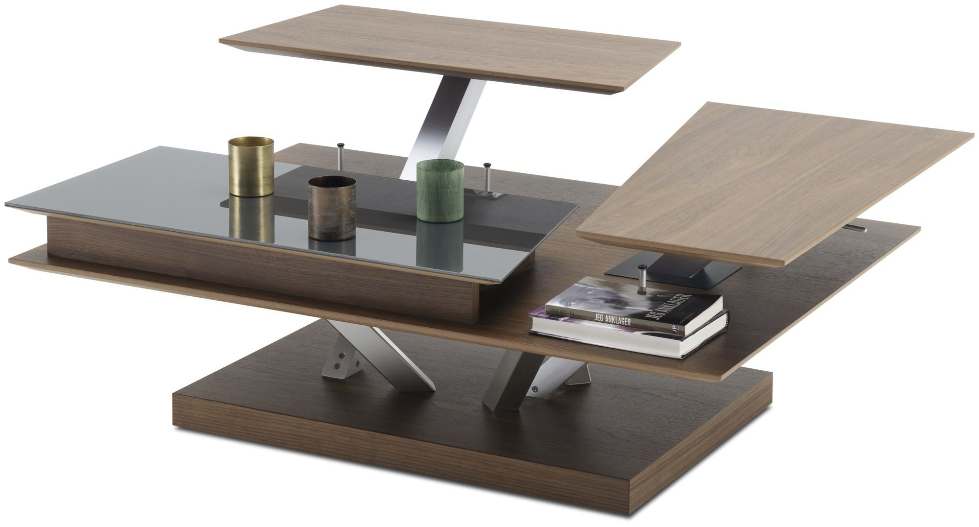 Contemporary coffee table / glass / MDF / rectangular - BARCELONA ...
