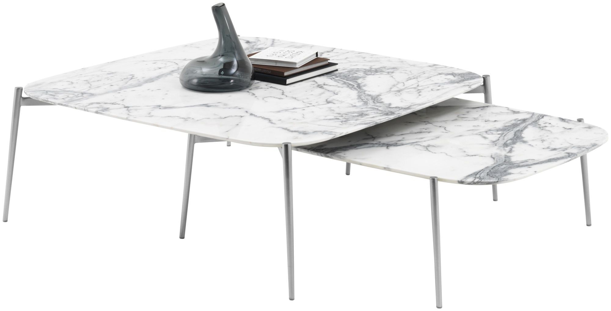 Contemporary coffee table / marble / MDF / steel - MURCIA - BoConcept
