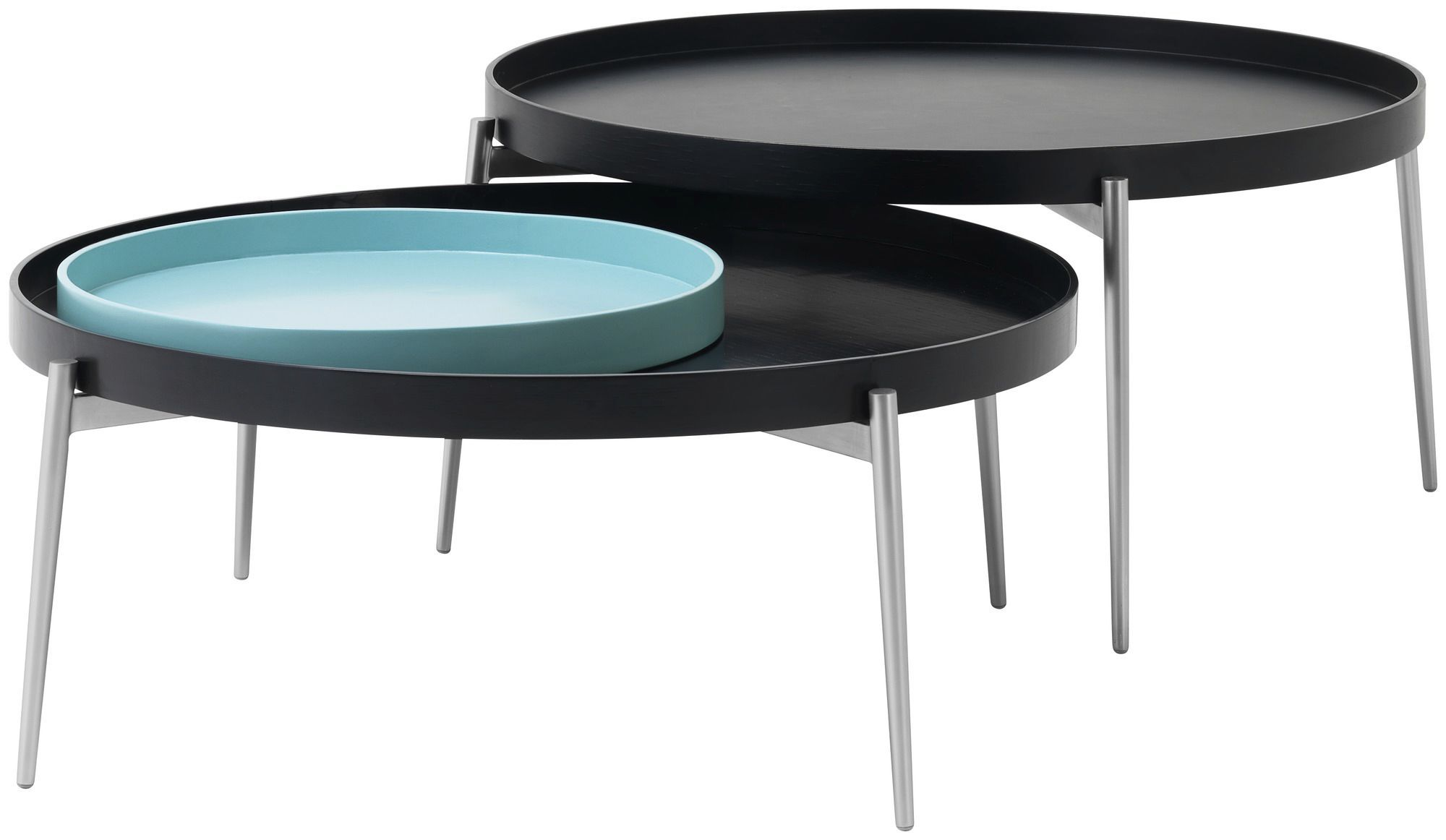 ... Contemporary coffee table / MDF / steel / round VERA BoConcept