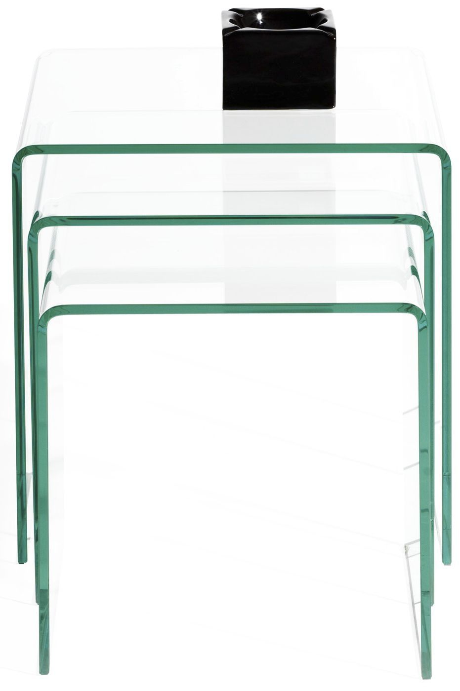 Delicieux Contemporary Nesting Tables / Glass / Rectangular