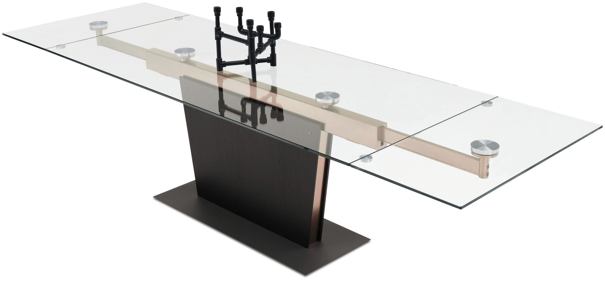 ... Contemporary dining table / glass / MDF / steel MONZA BoConcept ...