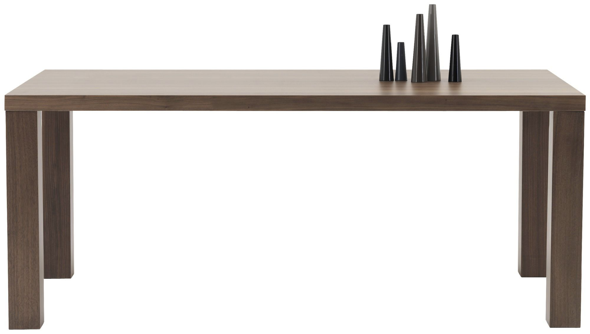Contemporary dining table / MDF / steel / rectangular - LUGO
