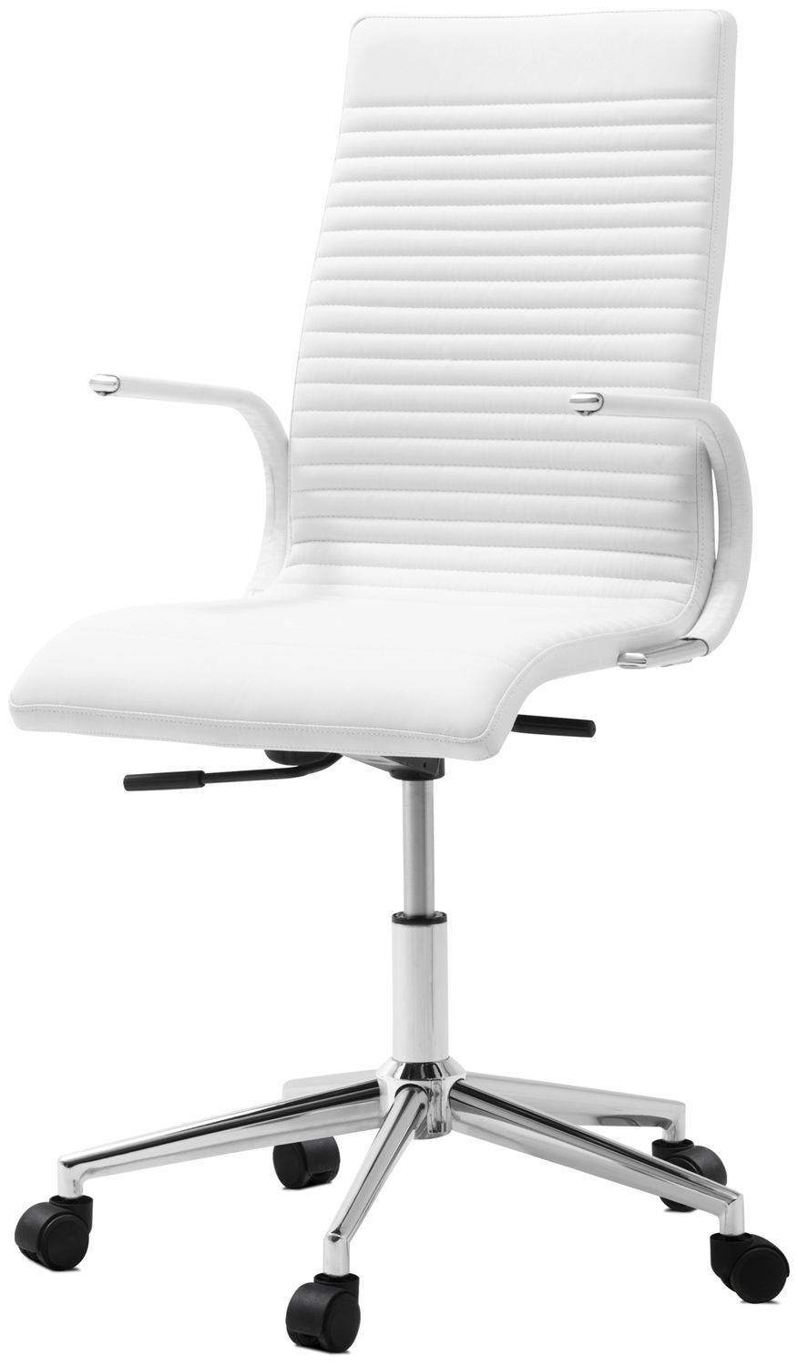Contemporary Office Chair Upholstered With Armrests On Casters Ferrara