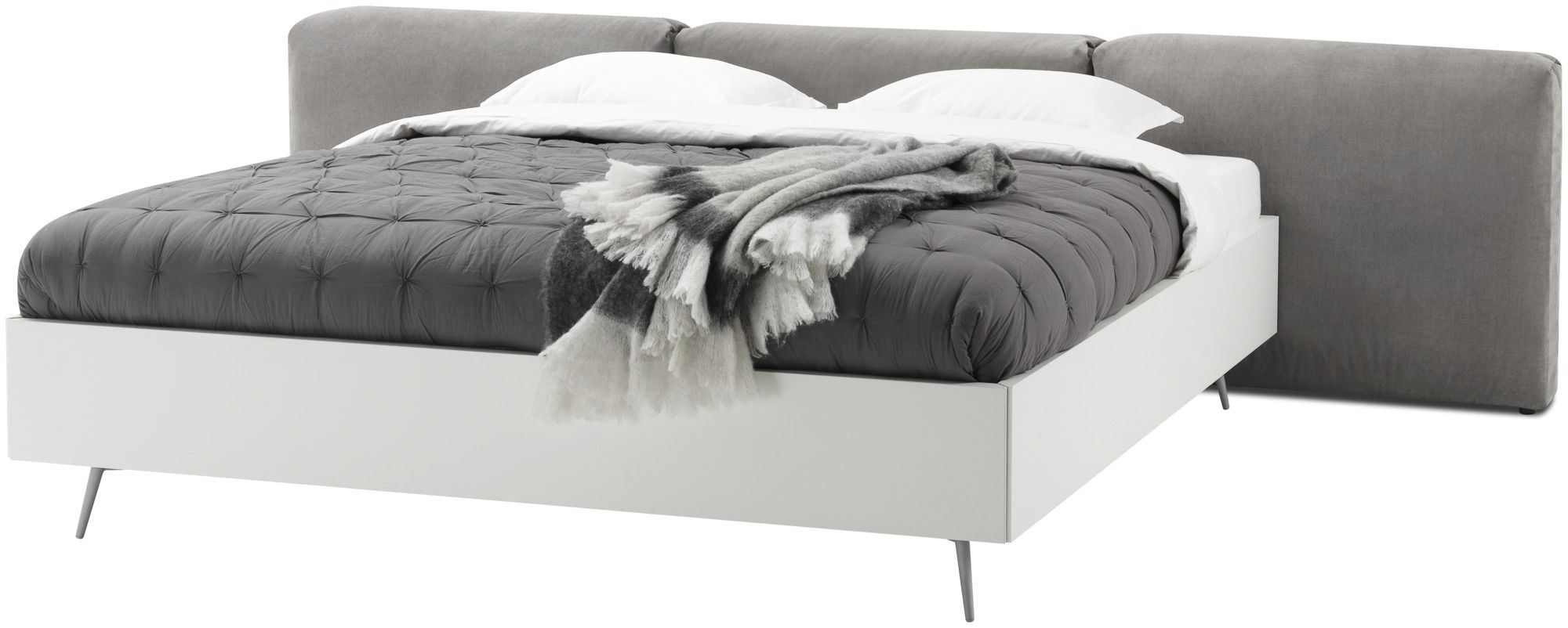 Double Bed Contemporary With Upholstered Headboard With In - Boconcept bedroom furniture