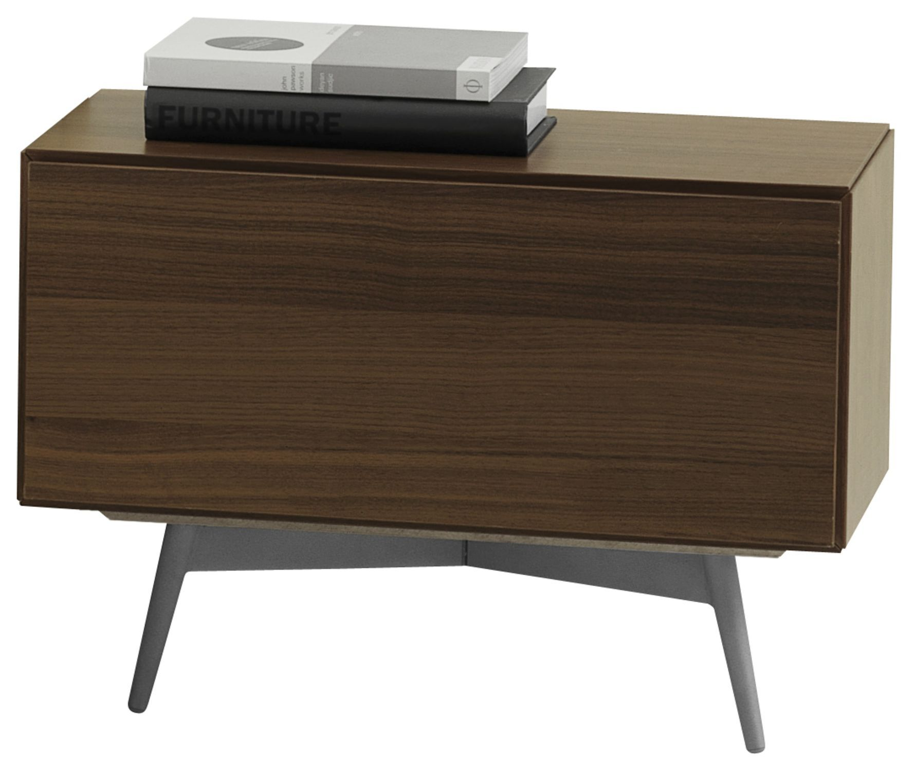 Bedside Stand contemporary bedside table / mdf / steel / rectangular - lugano