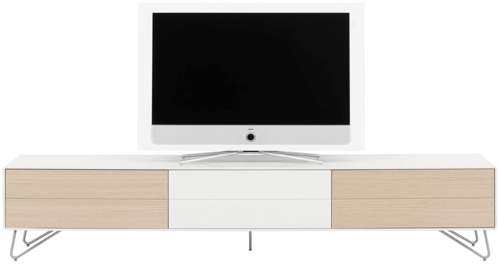 Contemporary Tv Cabinet Wooden Steel Mdf Fermo By Morten  # Bo Concept Meuble Tv