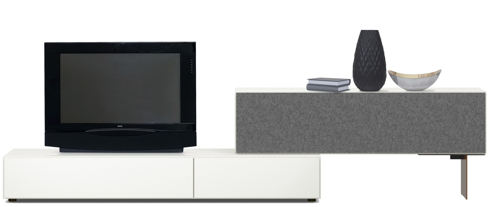 Contemporary Tv Cabinet Hi Fi Glass Mdf Lugano Boconcept # Meuble Tv Console