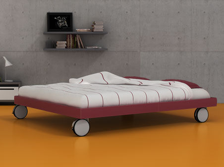 single bed / contemporary / metal / on casters - n_8 by vicente, Hause deko
