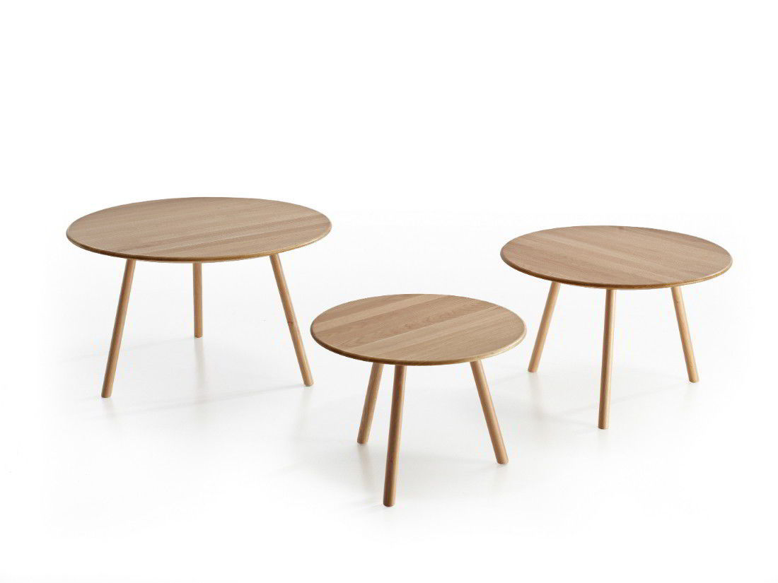 ... Contemporary Side Table / Oak / Round ...