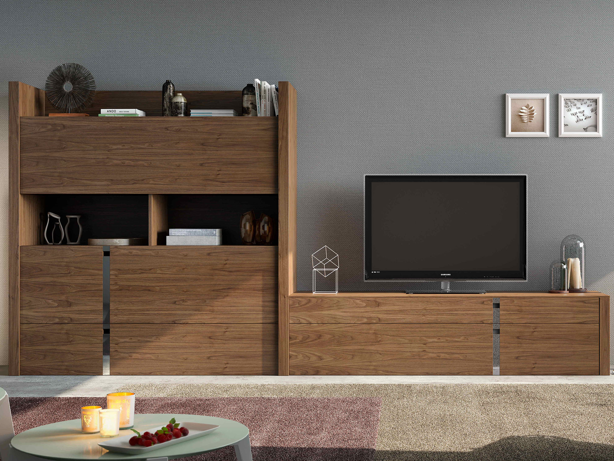 Contemporary Tv Wall Unit Wooden Impersonal2k15 18 Piferrer # Muebles Piferrer Iline
