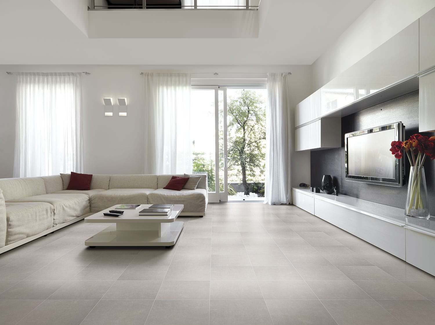 Living room tile / floor / ceramic / satin - DUBAI - Alfagres S.A.