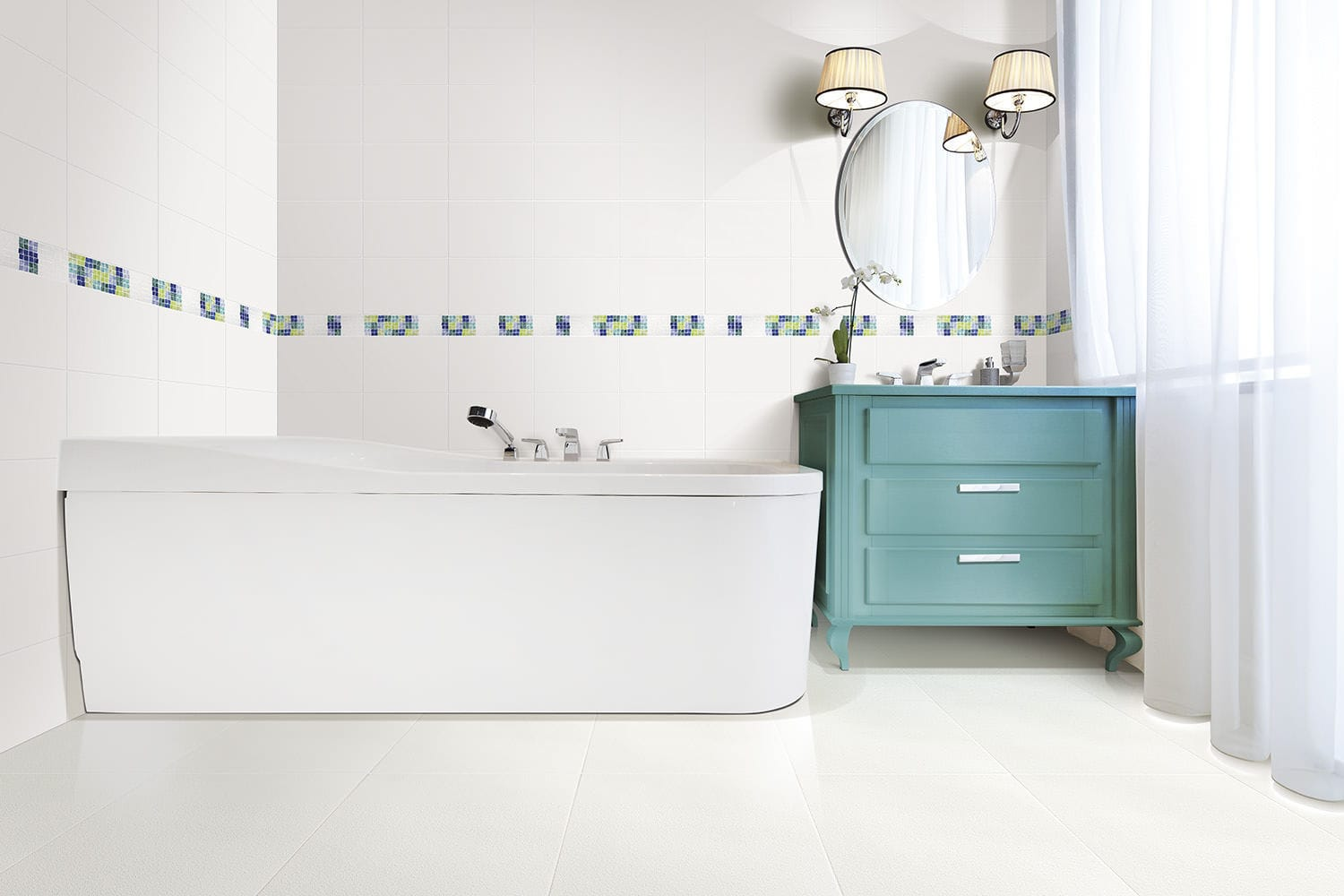 Bathroom tile / floor / ceramic / high-gloss - ARTICA - Alfagres S.A.