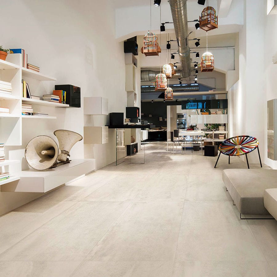 Indoor Tile Floor Porcelain Stoneware Plain Contemporary