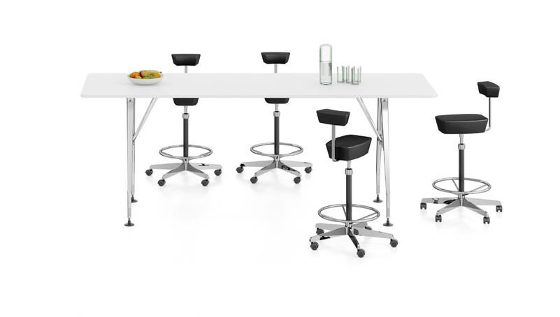 Contemporary Conference Table Metal Rectangular By Antonio - Tall meeting table