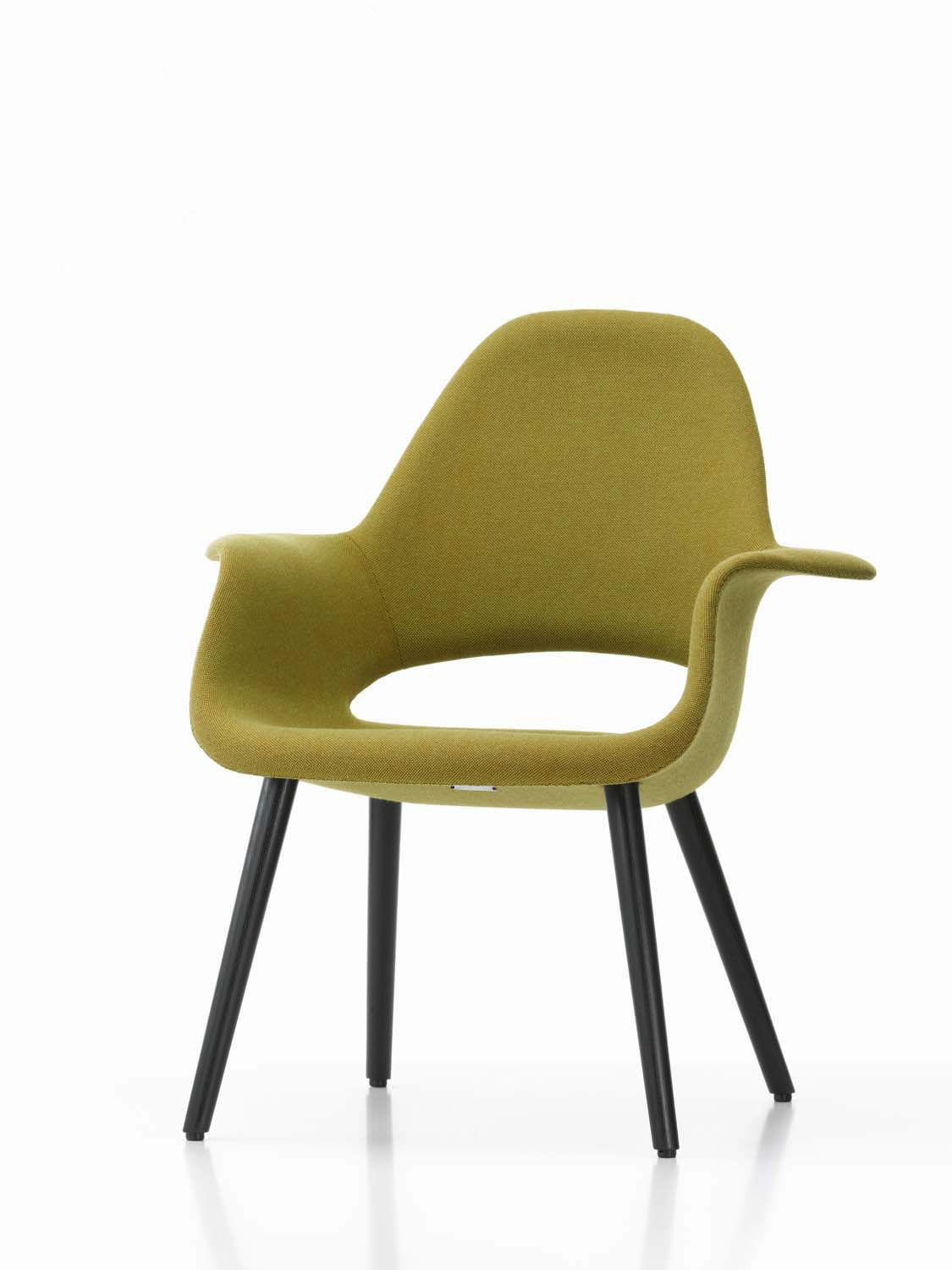 Upholstered conference chair / with armrests / fabric / by Charles ...