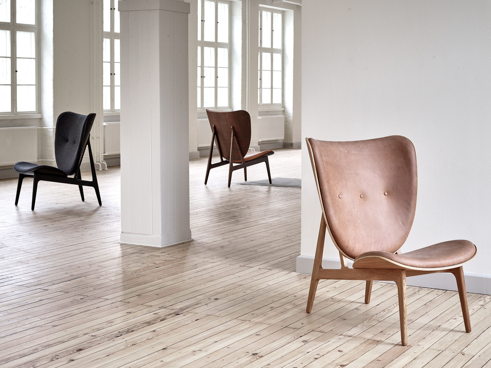 Contemporary Lounge Chair / Leather / Wooden / Upholstered ELEPHANT By  Kristian Sofus Hansen U0026 Tommy ...