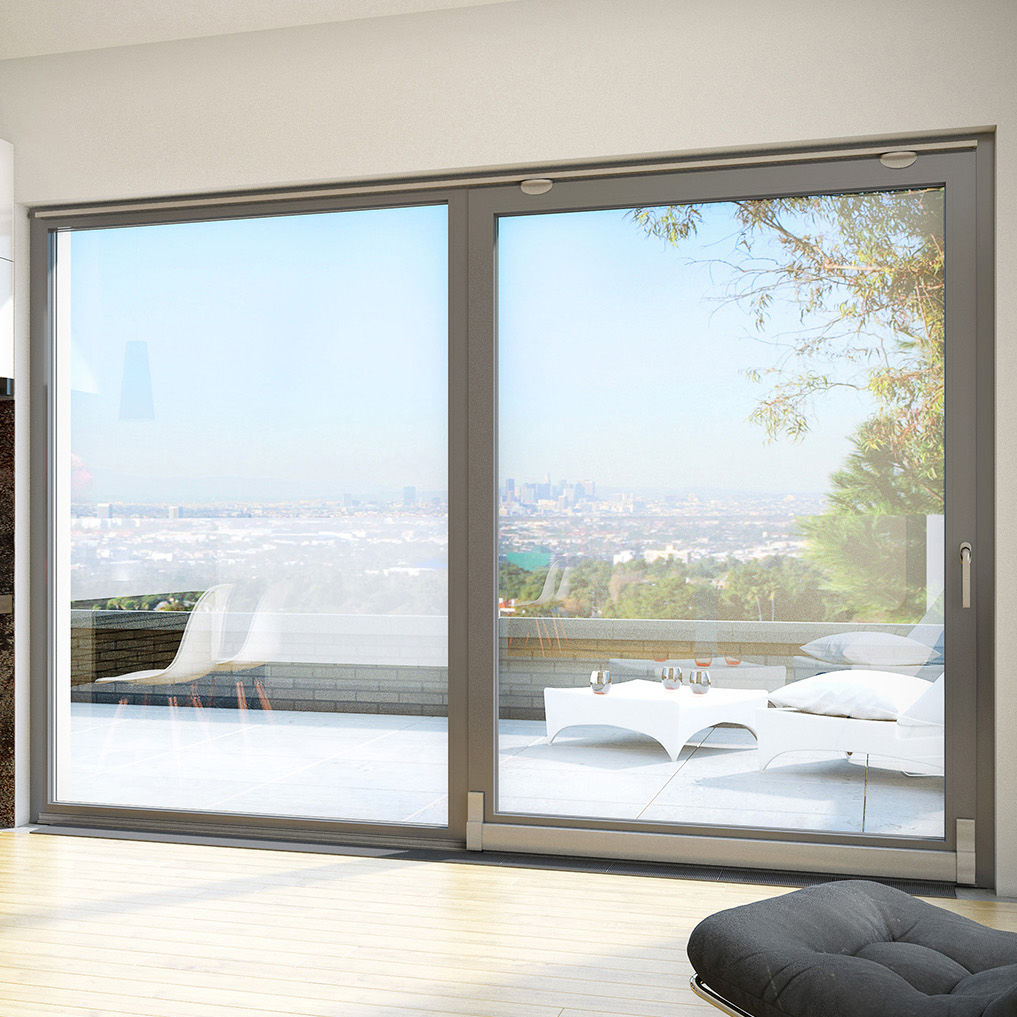 Sliding Patio Door Aluminum Double Glazed Thermally Insulated
