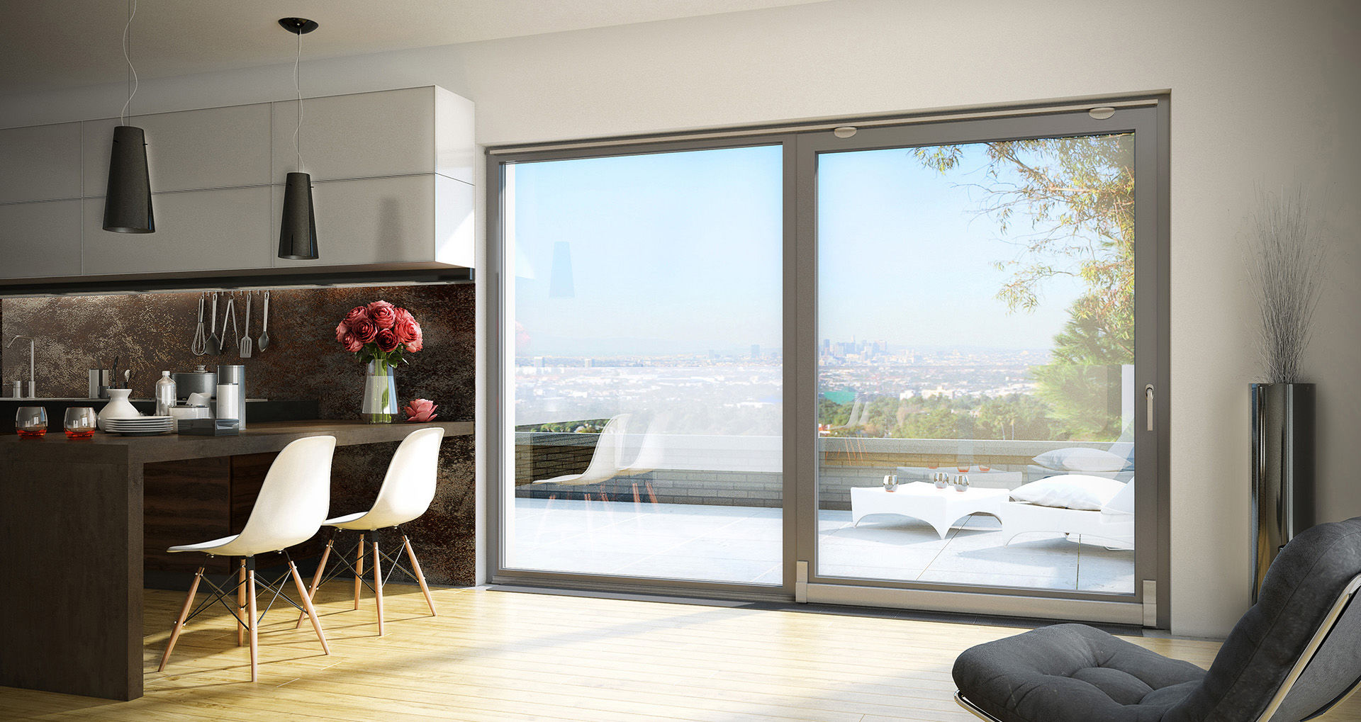 Good Sliding Patio Door / Aluminum / Double Glazed / Thermally Insulated MB 70/  ...