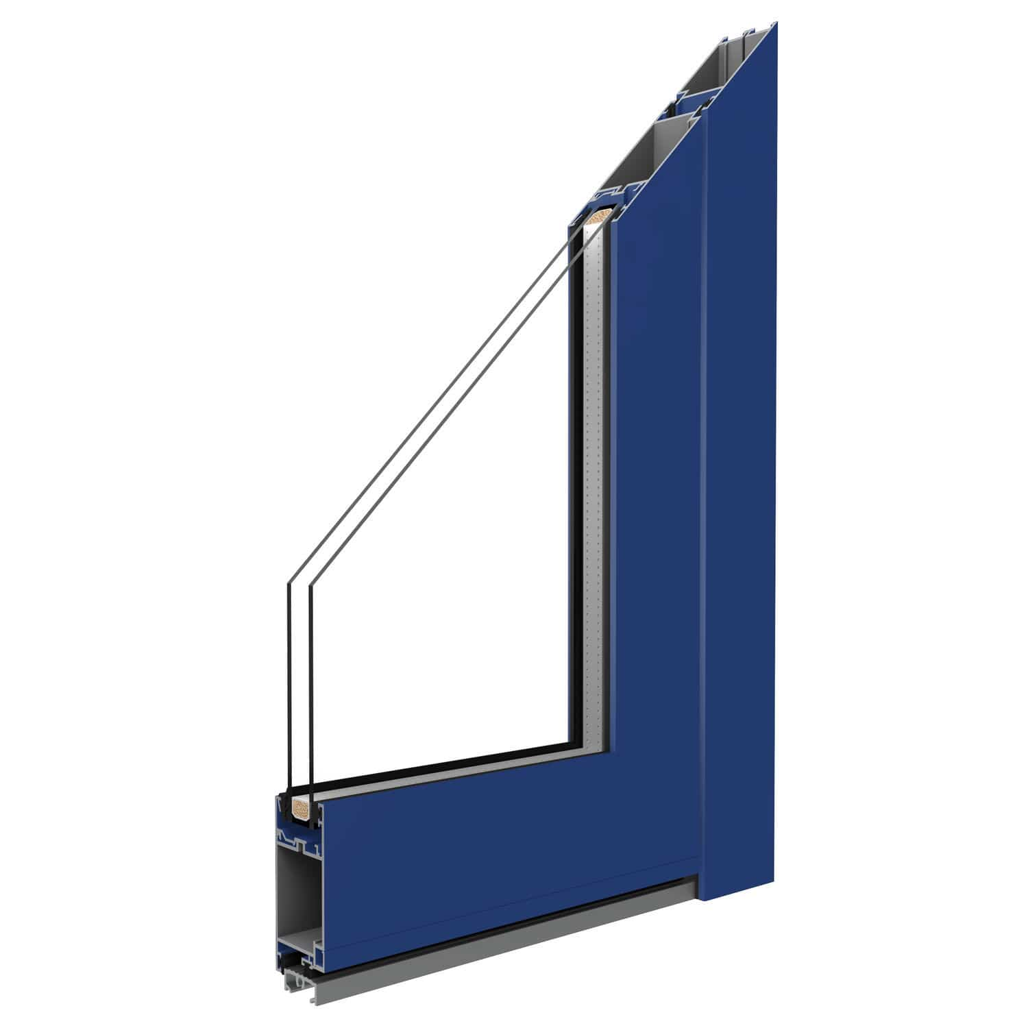 Swing French Door Aluminum Double Glazed Thermally Insulated