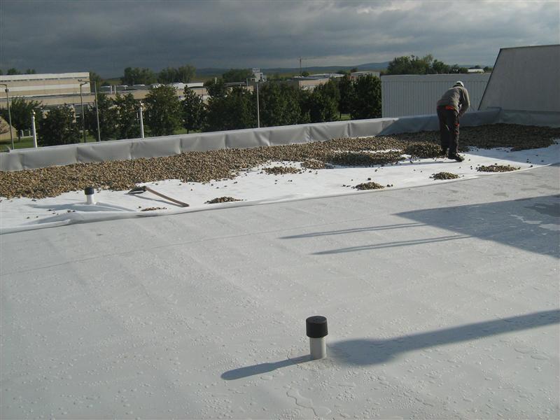 ... Synthetic Waterproofing Membrane / PVC P / Roof / Roll MAPEPLAN® B  Polyglass Spa ...