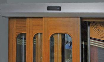 Interior door / telescopic / glass / aluminum & Interior door / telescopic / glass / aluminum - AGM Pezcame.Com